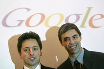 Google Founders Sergey Brin (L) and Larry Page